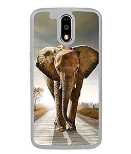 PrintVisa Designer Back Case Cover for Motorola Moto G4 :: Moto G (4th Gen) (Conservation Environment Landscape Tourism Elephant National Beautiful Reserver)