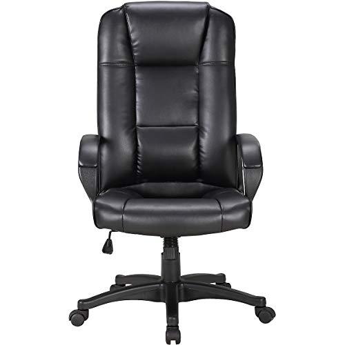 Certeo Chefsessel Siento mit Lederbezug, schwarz - Managersessel mit hoher Rückenlehne - Soft Touch Leder - Schreibtischstuhl mit italienischem Design