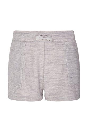 Mountain Warehouse Relax Comfy Shorts - Leichte Damenshorts, Sommerhose mit Kordelzug, strapazierfähig, schweißableitend - Für Camping, Bergwandern im Frühling Grau DE 34 (EU 36) (Indoor-haustier-bett)