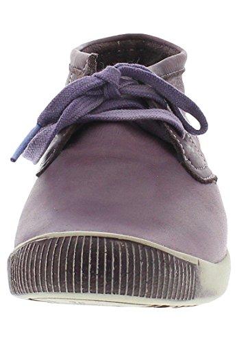 Softinos Indira Washed Leather, Derbies à lacets femme Violet
