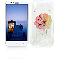 Funda Huawei Y6 II/Y6 2 Carcasa Protectora OuDu Funda para Huawei Y6 II/Y6 2 Caso Silicona TPU Funda Suave Soft Silicone Case - Margarita