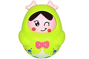 Ole Baby Nodding Doll Baby Rattles Roly-poly Doll with Music Toys Children Kids Lovely Face Tumblers