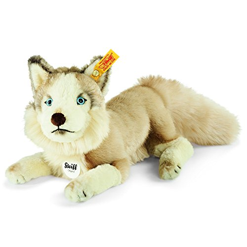 Steiff 080425 - Dui Husky, Plüschtier, 27 cm, beige/creme
