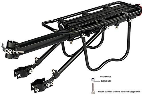 ALOOVOO Fahrradträger Aluminiumlegierung 50 KG Gepäck Gepäckträger Kofferraum für Fahrräder Fahrrad Gepäckträger