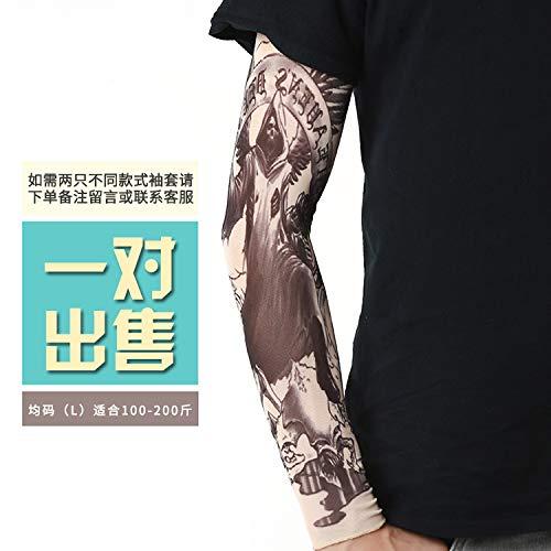 Jinrui-sport manicotto del tatuaggio manicotto del tatuaggio del tatuaggio del braccio del fiore, l, rose red 36 2 pacchetti
