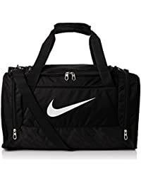 Nike Brasilia 6 Duffel Small - Bolsa unisex, color negro / blanco, talla única