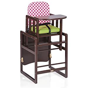 Herlag Kombi-Set TX IV Chaise Haute Marron Vert/Rosé à Pois
