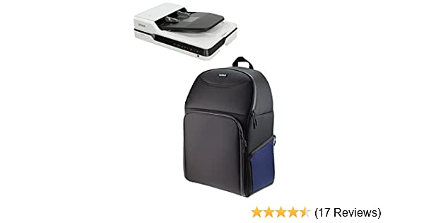 01e7cf672ced Navitech Black + Blue Portable Mobile Scanner Carry Case / Rucksack  Backpack for the HP ScanJet Enterprise Flow 5000 s4