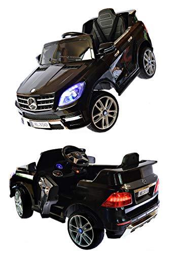 ToyZone Kinderauto Mercedes ML350 4 Matic Kinderfahrzeug Eva Leder Sitz Swingfunktion Elektroautos Kinder Elektro Auto 2,4 GHZ RC Steuerung