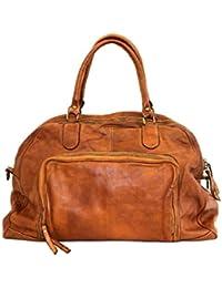 90fb4415ae6ae BZNA Bag Camilla cognac Italy Designer Weekender Damen Handtasche  Schultertasche Tasche Schafsleder Shopper…