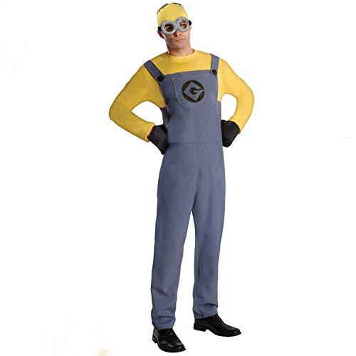s Erwachsene Paar Halloween Kostüm Cosplay Animation Bühnenshows für Männer, männlich (Despicable Me 2 Kostüme Für Erwachsene)
