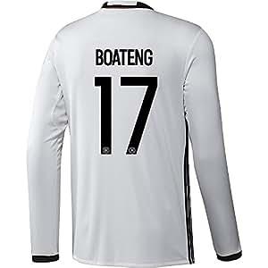 Adidas BOATENG #17 Deutschland Heim Trikot EURO 2016 Langarm (US-Größe)
