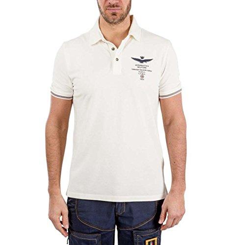 Aeronautica Militare Herren Poloshirt Weiß