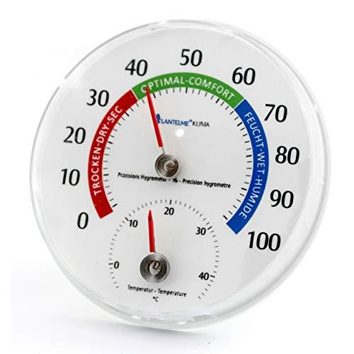 Lantelme Kombi Thermometer Hygrometer Analog Luftfeuchte Anzeige Rund 11,5 cm 4127