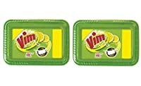 Vim Dishwash Bar Monthly Tub - 250g (Pack of 2) with free 2 Scrubber
