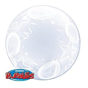 """Qualatex 16661""""Deco globos y estrellas 1"""" globo de burbujas, 60cm"""