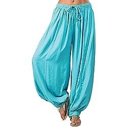 MORCHAN ❤ Femmes Plus Size Solide Couleur Casual Pantalon décontracté Sarouel Pantalon de Yoga Pantalon Femme