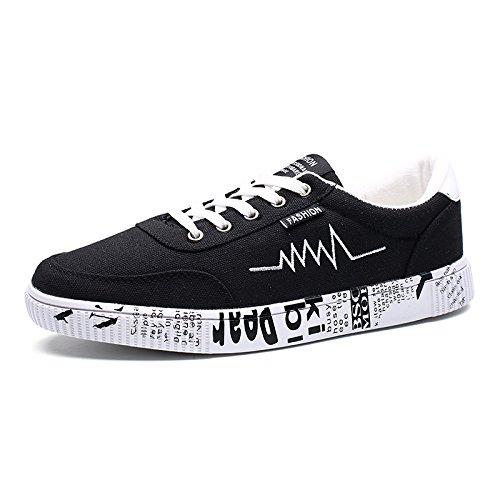 scarpe casual uomini scarpe casual classico espadrilli basso per gli studenti black and white