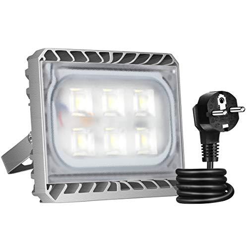 GOSUN® Super Hell 30W LED Fluter Außenstrahler 2700Lumen 230V IP65 CREE SMD5050 Warmweiß, 36 Monate Garantie - Fin Montage
