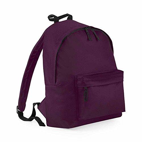 Bag base - Sac à dos école loisirs - BG125 - rouge bordeau - 18L - mixte homme / femme