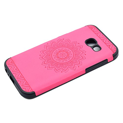 inShang Coque Samsung Galaxy A3(2017) Housse Etui Plastique Case ductile TPU Rose printing