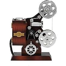 Mini Music Box Retro Film Kinaprojector Music Box Hout Metaal Antieke Musical Box for Kids (Kleur: Bruin, Maat: Een maat) dljyy (Color : Brown, Size : One Size)