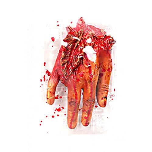 NaiCasy De Terror Sangriento Falso Brazo arrancado con Plato de Rotura de Herramientas de Mano Truco Broma del Partido de Halloween 1 PC