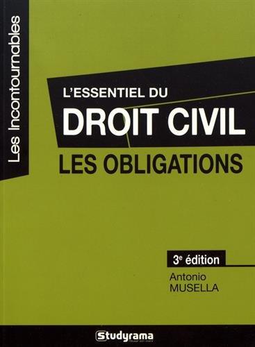 L'essentiel du droit civil, les obligations