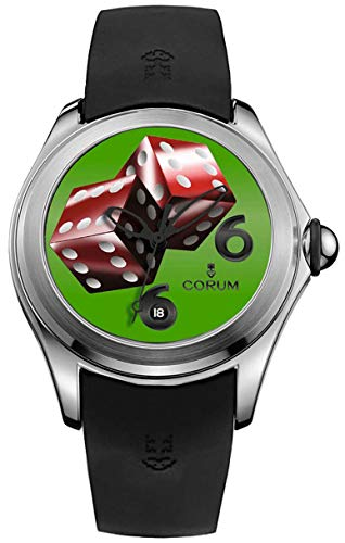 Corum Bubble 47 Dice 88 Piece Limited Edition Steel Mens Automatic Watch Rubber Strap Calendar 082.310.20/0371 DI06
