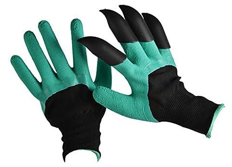 gardtech Gartenhandschuhe Genie Handschuhe mit Krallen für Graben Pflanzen und Bepflanzen