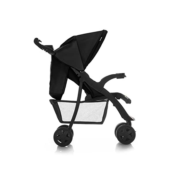 Hauck Shopper Neo II One Hand Fold 4 Wheel Pushchair with Raincover, Black, From Birth to 15 Kg Hauck Fold in seconds with one hand Comfortable seat with lying position and adjustable footrest Includes 2 practical bottle trays 6