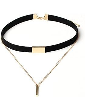 Frau Halskette Zubehör Kolylong® 1PC Frauen Samt Choker Halskette Kette