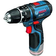 Bosch GSB 12V-15 Professional - Taladro con tecnología de litio (gama 12 V, 2 velocidades, 0 - 380/1300 rpm), negro y azul