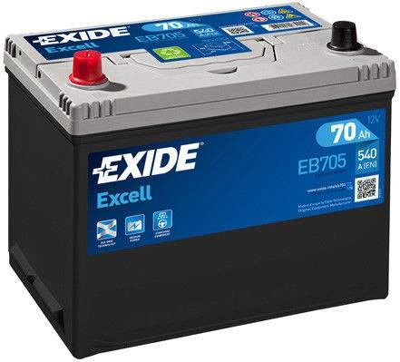 Exide EB705Excell 70Ah 540CCA 12V tipo 031-069batteria auto 3anno di garanzia (controllare le dimensioni prima dell' acquisto)