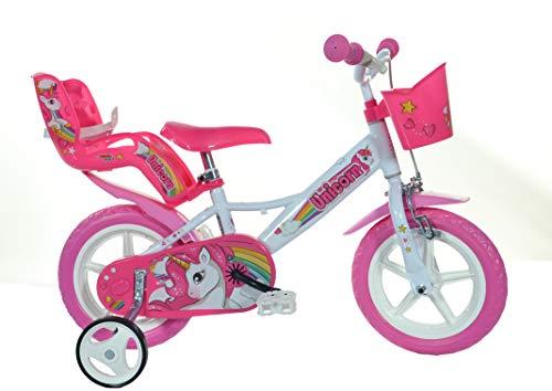 Einhorn Kinderfahrrad Unicorn Mädchenfahrrad -  12 Zoll | Original | Kinderrad Mit Stützrädern, Puppensitz Und Fahrradkorb - Das Einhorn Fahrrad Als Geschenk Für Mädchen