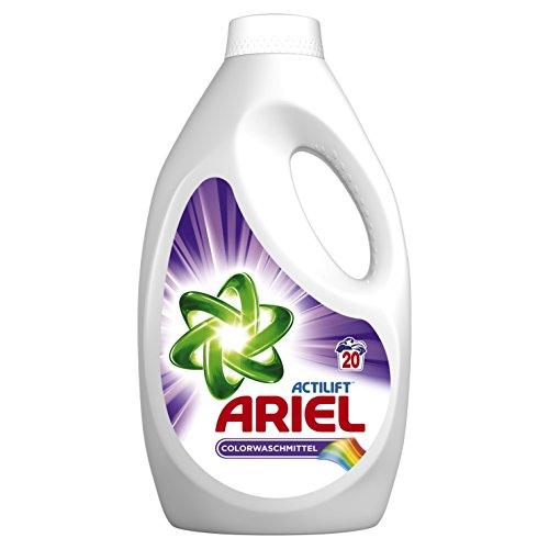 Ariel Colorwaschmittel Flüssig, 4er Pack (4 x 20 Waschladungen)