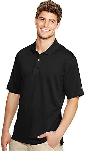 Champion Double Dry Men's Solid-Coloree Polo Shirt_nero_Small | Conveniente