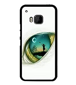 printtech Eye Girl look View Back Case Cover for HTC One M9::HTC M9