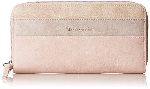 Tamaris Damen Khema Big Zip Around Wallet Geldbörse, Pink (Rose Comb.), 2x10x19,5 cm (Zehn Zip-around Wallet Damen)