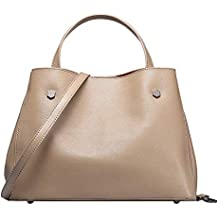 DaDongLL Ladiesvintage Cow Split Leather Womens Soft classic leather Tote Bolsa Crossbody bolsas de