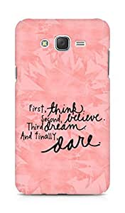 AMEZ think belive dream dare Back Cover For Samsung Galaxy J7