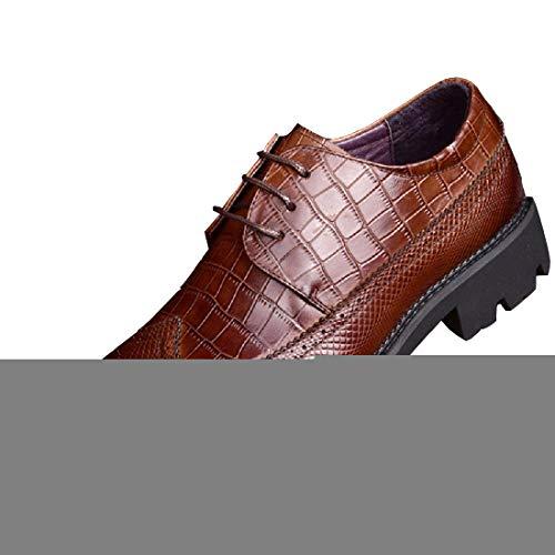 Tblq scarpe da uomo in pelle scarpe eleganti da uomo scarpe casual con fondo spesso da uomo,brown-39