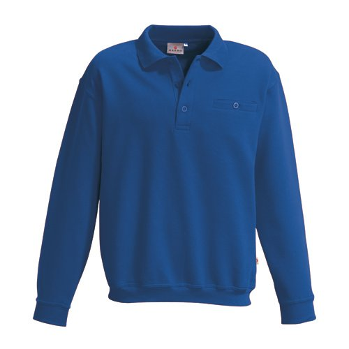 Hakro Herren Pocket-Polo-Sweatshirt Premium # 457 (M, royal) - Pocket Jumper