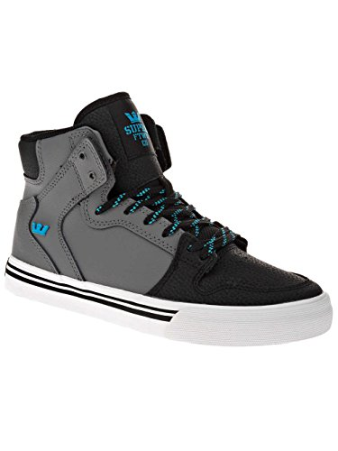 Supra Vaider, Sneakers Hautes Mixte Adulte charcoal/black/turquoise/gris