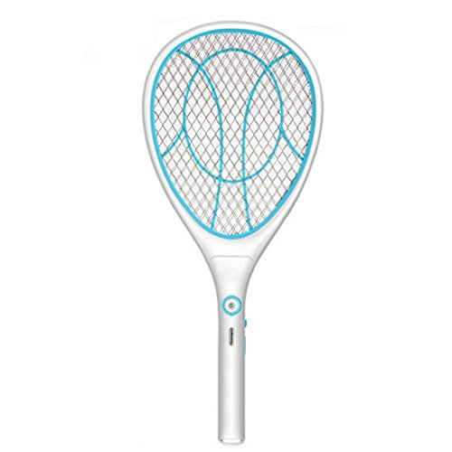 BOROK Elektrische Fliegenklatsche Fliegenfänger Mückenklatsche Insektenvernichter Insektenschläger Mosquito-Schläger Mosquito Swatter USB Wiederaufladbar Extra Stark-Farben Wahllos
