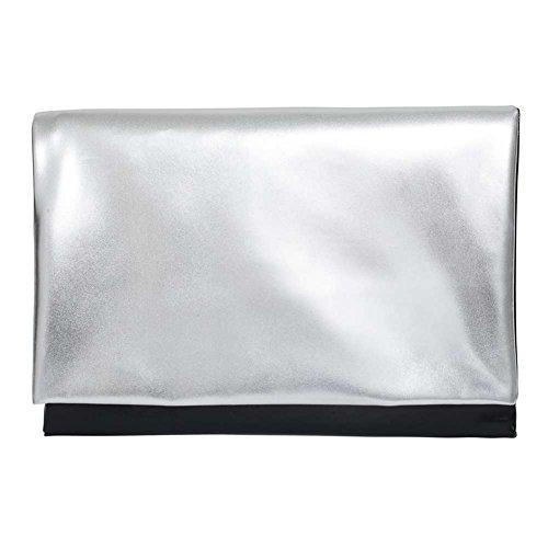 Zarapack - Borsetta senza manici donna Silver Black