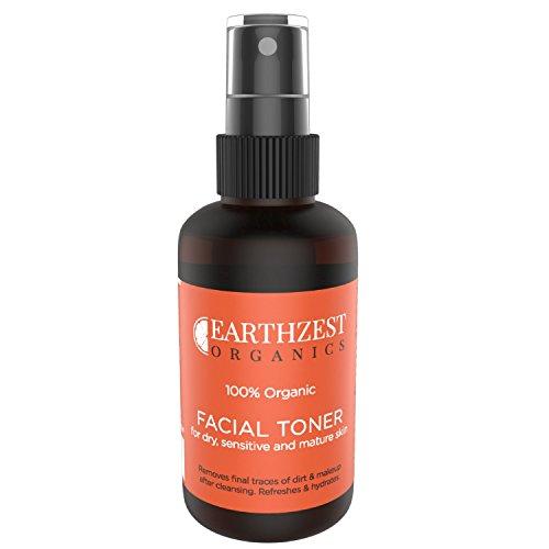 100% Organisches Gesichtswasser Für Männer & Frauen für trockene, empfindliche oder reife Haut. Sanfte Aber Wirksame Anti-Aging Gesichtstoner. Enthält Keine Chemikalien, Alkohol. Reinigt, Schützt