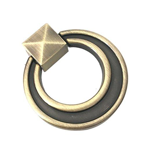 Ringe Schrank Schublade Zieht (LOVIVER Klassische Vintage Kommode Schrank Zieht Drop Ring Tür Schublade Ziehen)