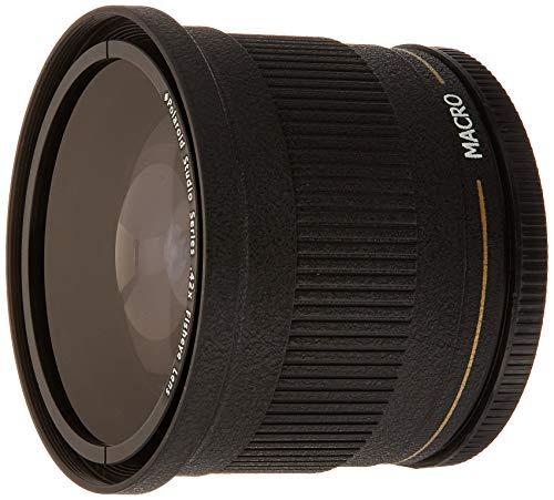 Polaroid Studio Series 72 mm .42x HD Fischaugen-Objektiv mit Makroaufsatz inkl. Objektivtasche und Schutzkappen Zeikos-serie