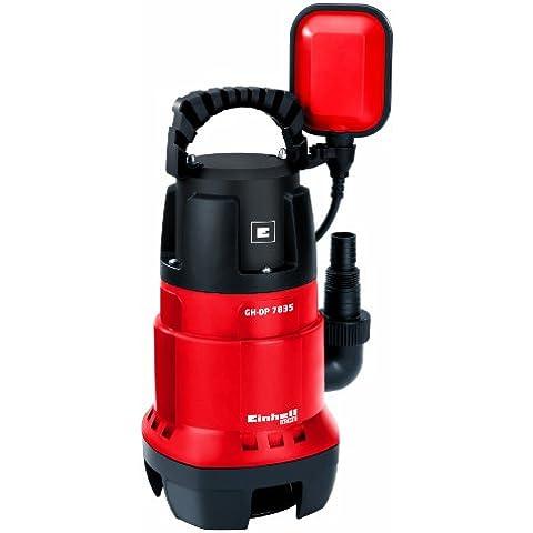 Einhell GH-DP 7835 - Bomba sumergible aguas sucias (780 W, 15.700 litros por hora) color rojo y negro